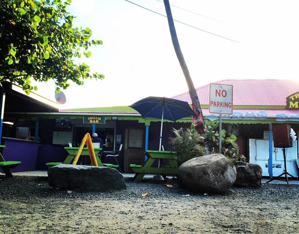 previous bar entrance at trellis bay bar tortola bvi