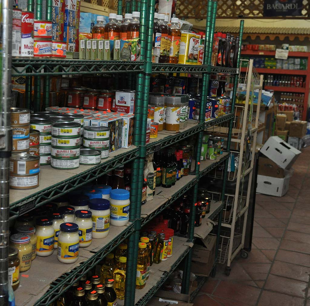 tuna fish , mayonnaise, seasoning and oil selection at trellis bay market bvi