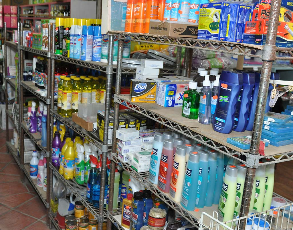 Cleaning products available at Trellis Bay Market