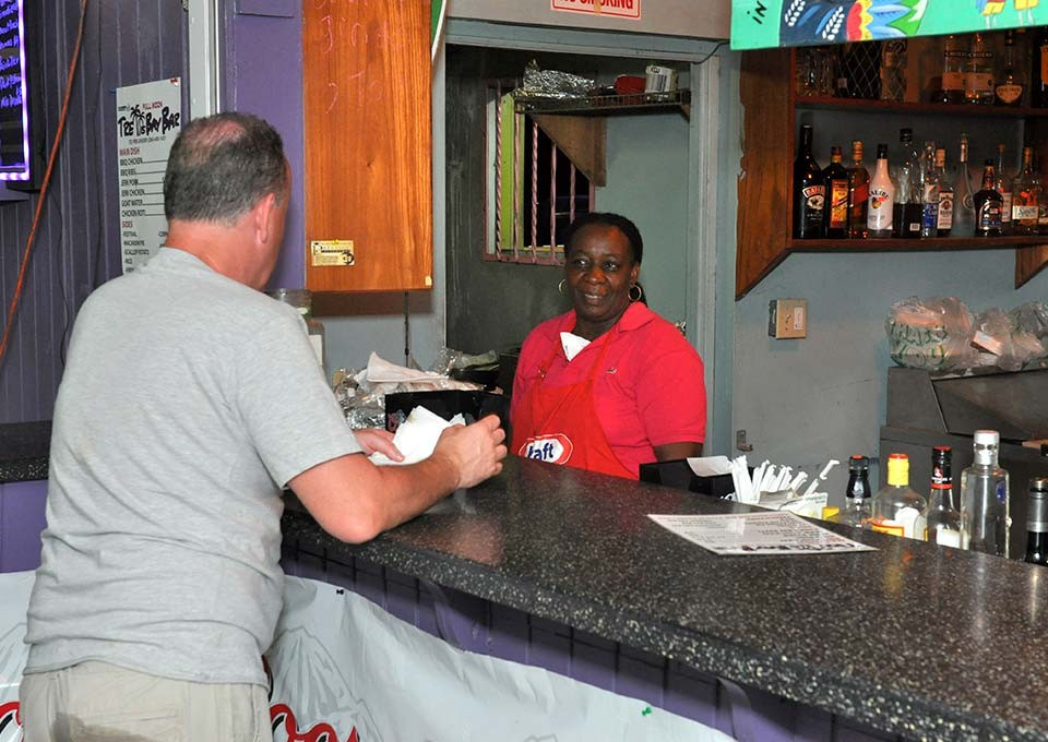 customer at trellis bar