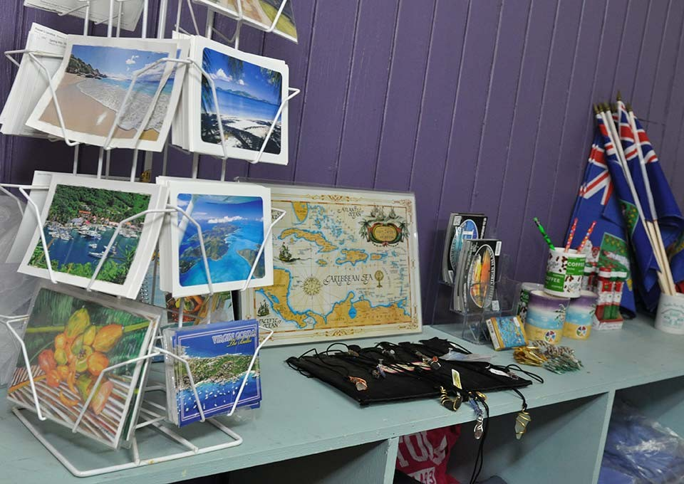 gift items available at trellis gift shop bvi