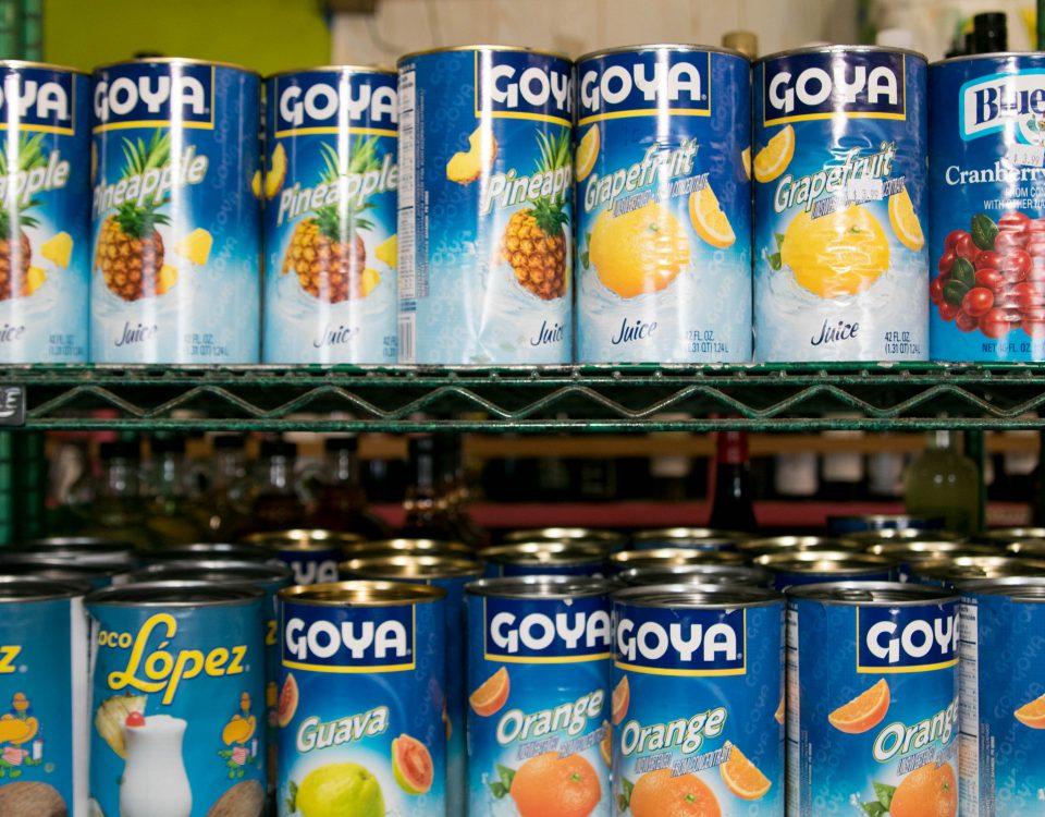 Goya fruit juices trellis bay market