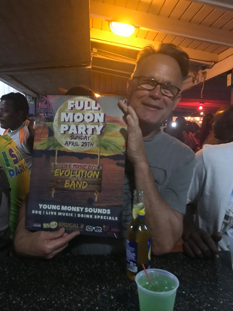 Visitors from Florida enjoying our Full Moon Party 2018