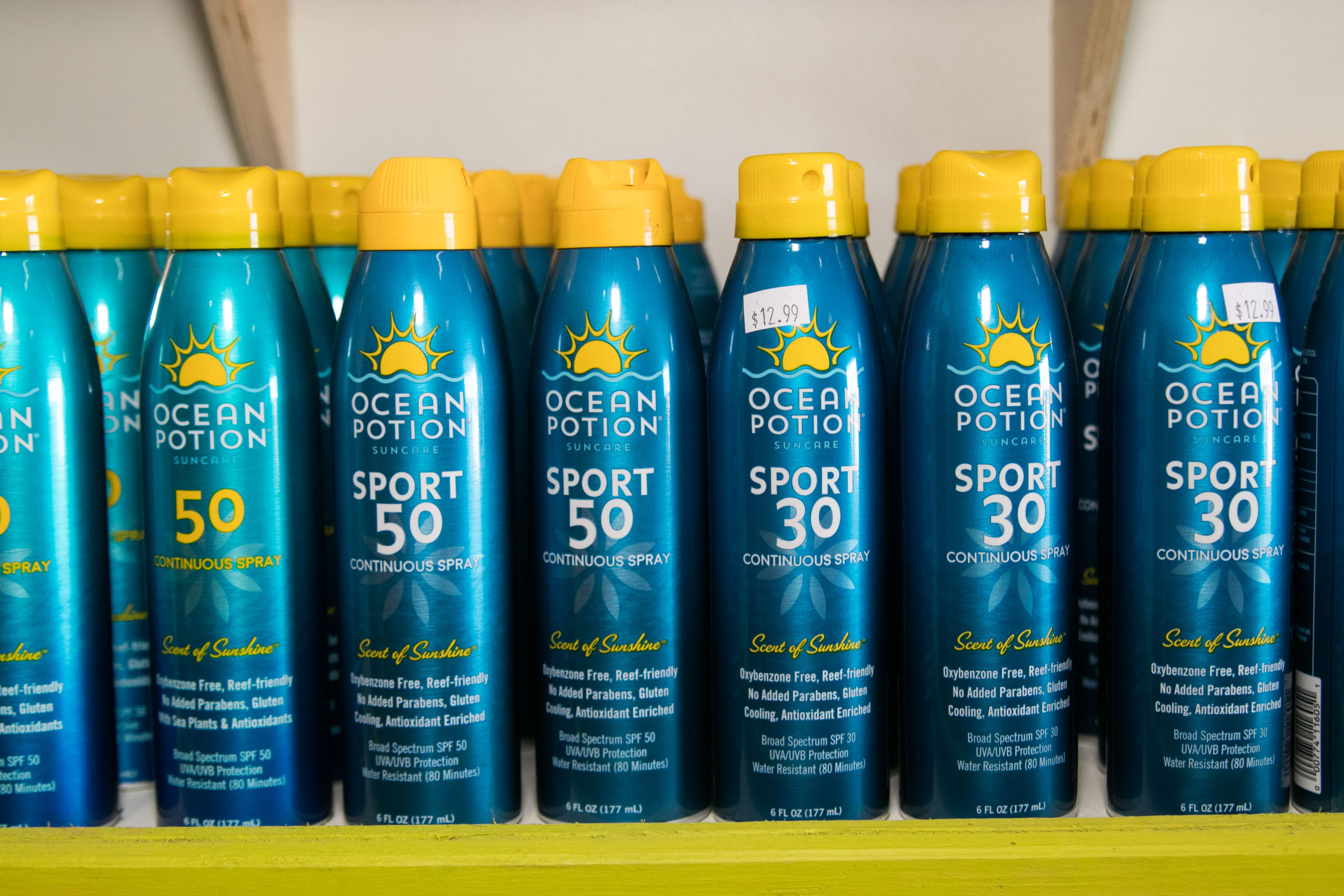 sun screen at trellis bay market